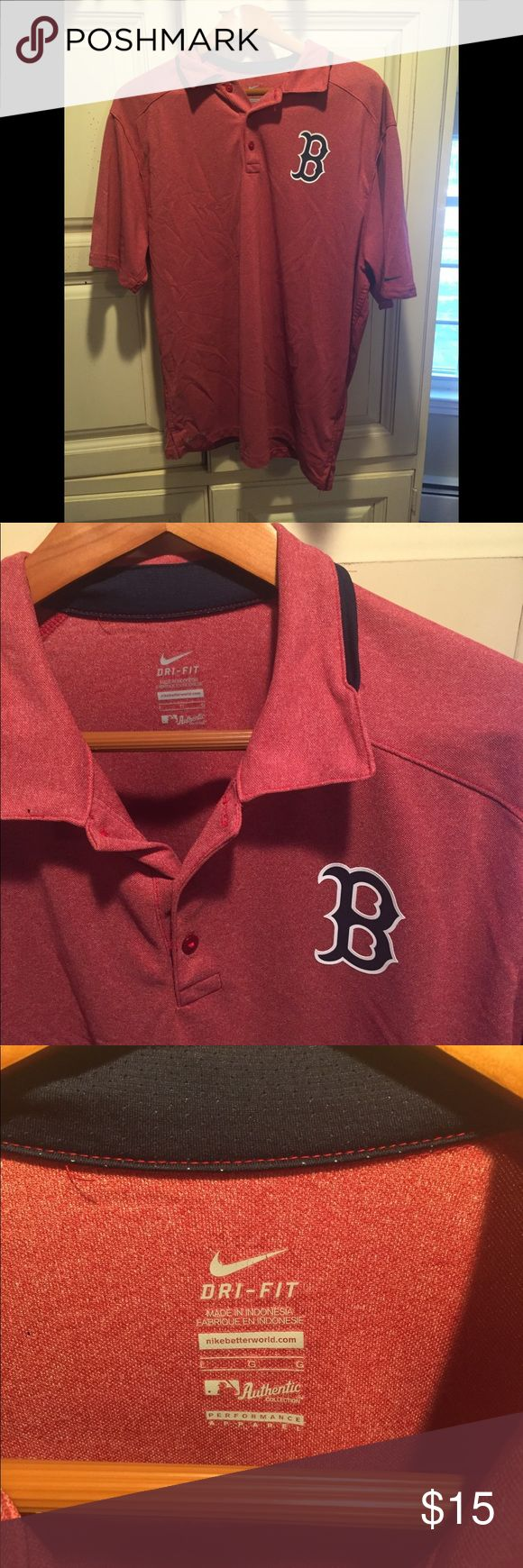 Boston Red Sox Dri-Fit Nike Polo Nike Boston Red Sox Polo Dri-Fit Size L. Authentic Collection Performance Apparel. If you have any questions please feel free to ask! Nike Shirts Polos