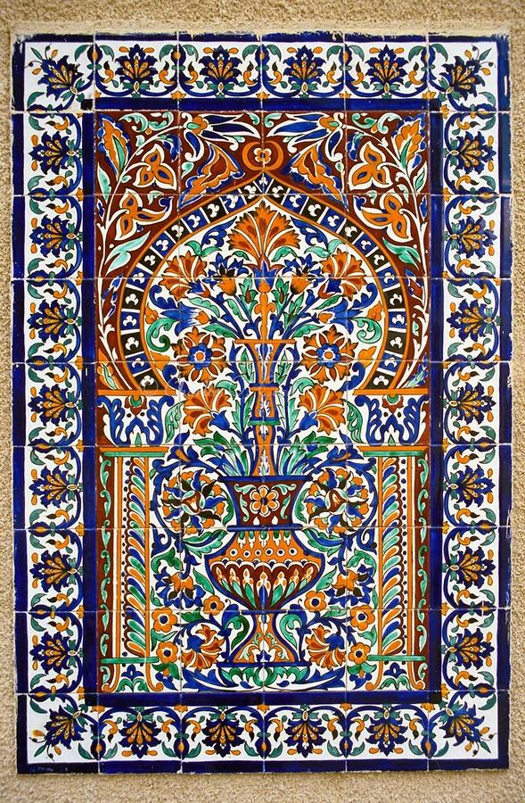 Tunisian #tile #mural.