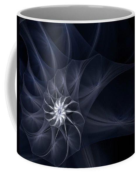 Fractal Dark Night Seashell By Irina Safonova Coffee Mug featuring the photograph Fractal Dark Night Seashell by Irina Safonova #IrinaSafonovaFineArtPhotography #food #Rustic #ArtForHome