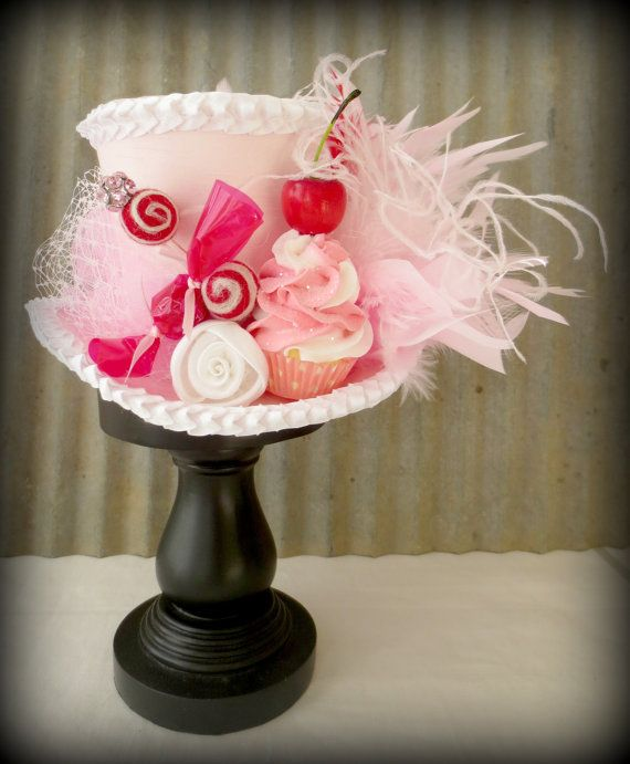 Candy Themed Mini Top Hat Mad Tea Party by Somethingfancydesign