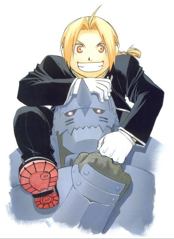 """I remember what Hiromu Arakawa said about this picture... """"Ed looks a little too well-behaved."""""""