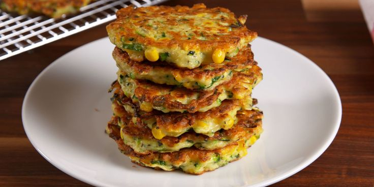 Zucchini Corn Cakes with Spicy Greek Yogurt sauce