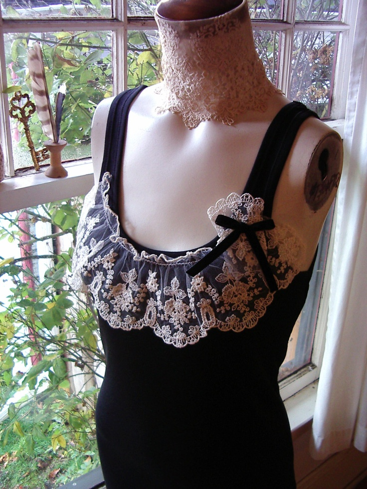 noir valentine french lace lingerie ruffle tank top t shirt blouse romantic gift for her black cream.