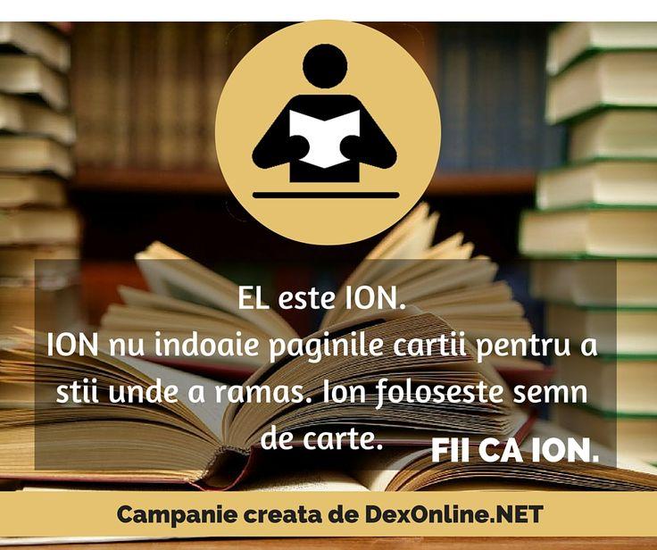Salvam limba romana impreuna! #salveazalimbaromana #corect #fiicaion #dictionar O campanie dexonline.net