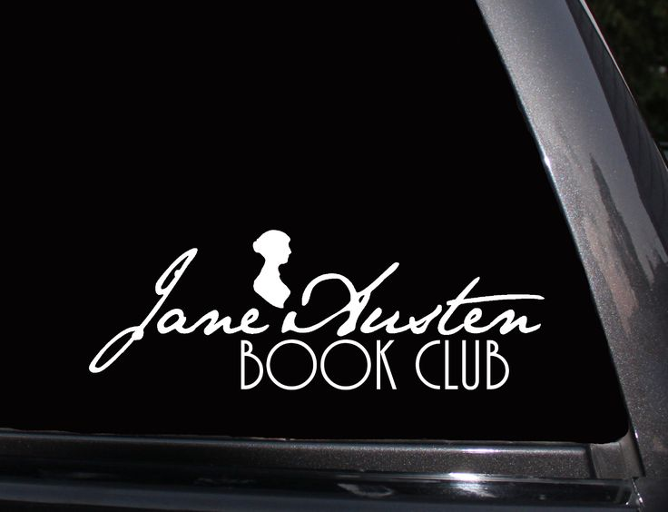 Jane Austen Book Club Vinyl Decal, Phone Decal,Laptop Decal, Wall Decal,Car Decal, Sticker