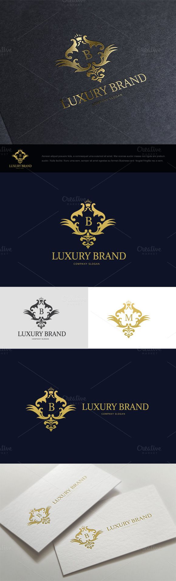 Luxury Brand Logo by Super Pig Shop on Creative Market