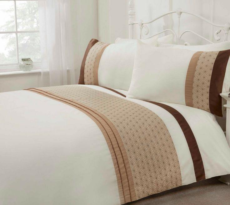 Anise Natural Duvet Cover, Luxury Natural embellished bedding single, double, kingsize & superking
