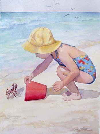 Girl w Crab by Sue Lynn Cotton