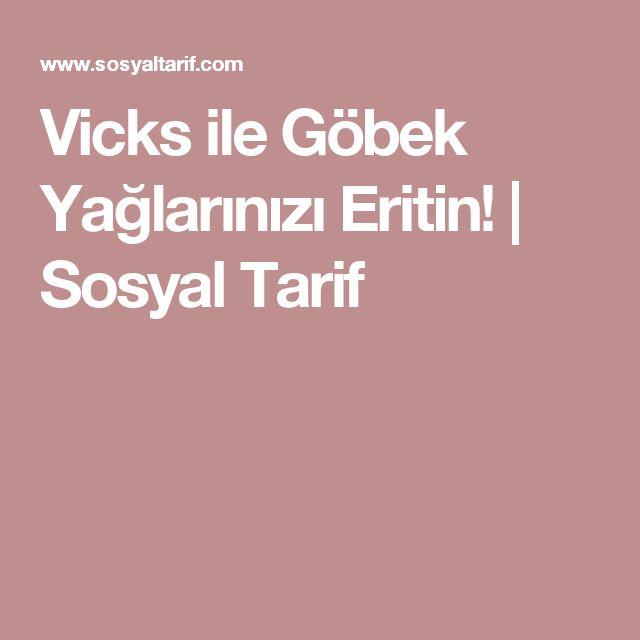 Vicks ile Göbek Yağlarınızı Eritin! | Sosyal Tarif