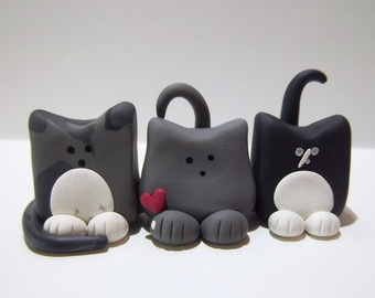 clay cat figures - Google Search