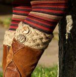 Knitting pattern boot cuffs, Манжеты для сапог   LaKalinka