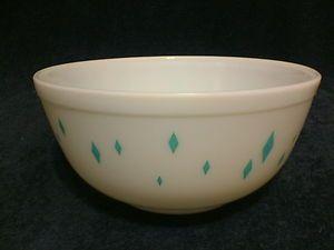 Turquoise Vintage Pyrex To Buy | Vintage-Pyrex-Diamond-Pattern-403-Mixing-Bowl-Turquoise-Aqua-Hard-to ...