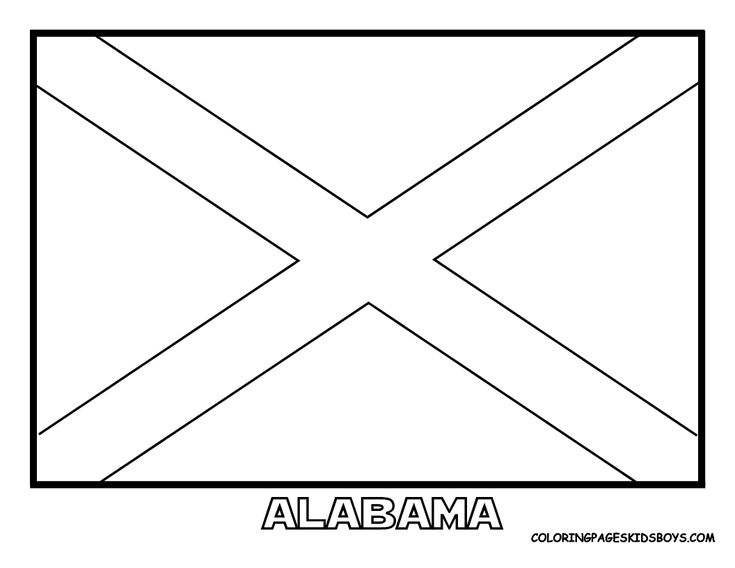State flag coloring pages HS