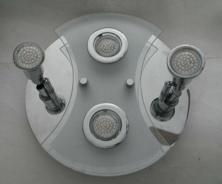 Briloner Leuchten LED Super Living Ceiling 4 Light Fixture 3528-048 Chrome Glass #BrilonerLeuchten #Modern