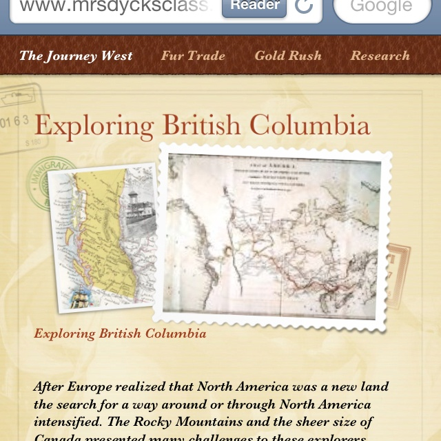 This is a grade 5 unit on the  BC Fur Trade. and Gold Rush. Will include online sites and video. Blogging and ebooks