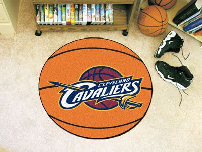 The Cleveland Cavaliers Basketball Shaped Mat by FanMats