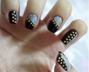 half and half studded nails