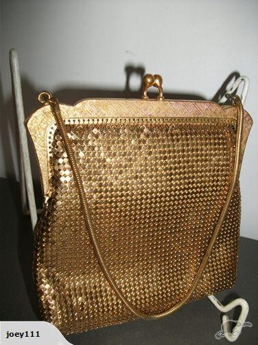 vintage Oroton gold glo mesh purse handbag