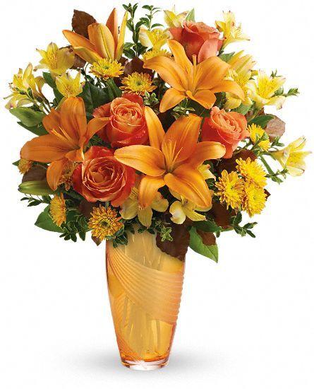 Teleflora's Amber Elegance Bouquet of fall #flowers