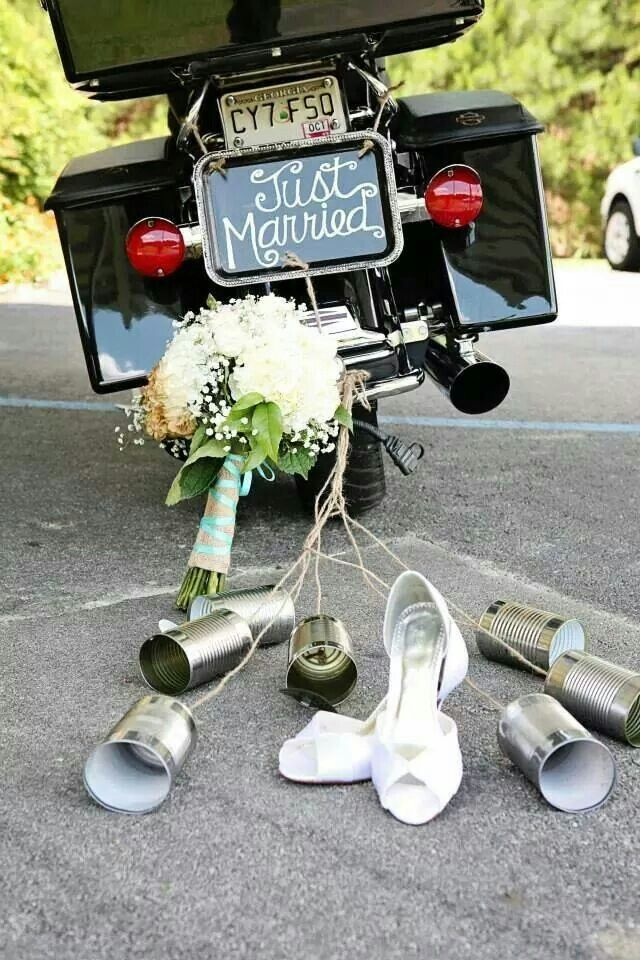 Picture from a biker wedding. Beautiful!