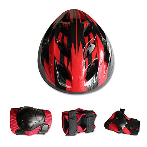 Children Sports Knees Elbows Wrists Head Support Protection Helmet Set for Unisex Kids Skateboard Cycling Roller Skating Extreme Sports Find out more about the great product at the image link.