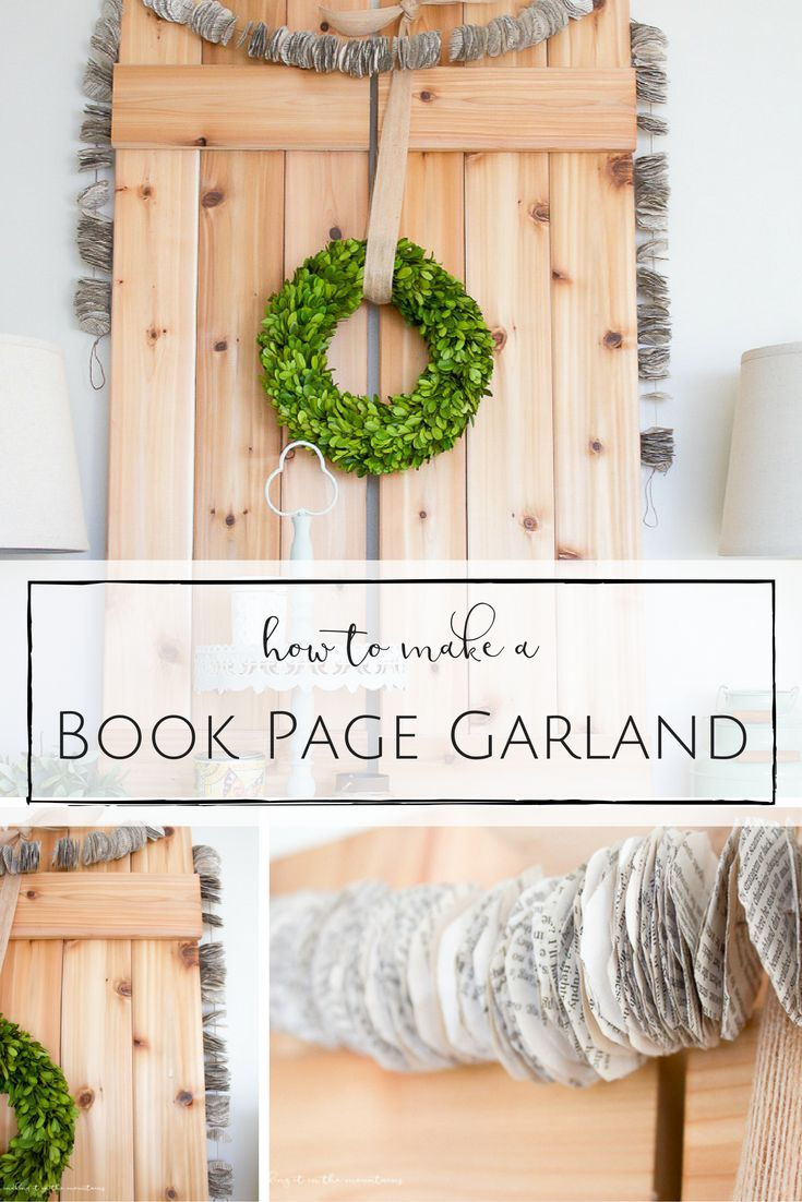 This simple and inexpensive garland would look so perfect hanging up all year round! http://www.makingitinthemountains.com