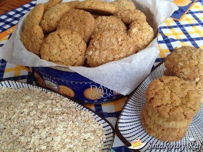 Smakowy Raj - blog kulinarny: Kruche ciasteczka owsiane