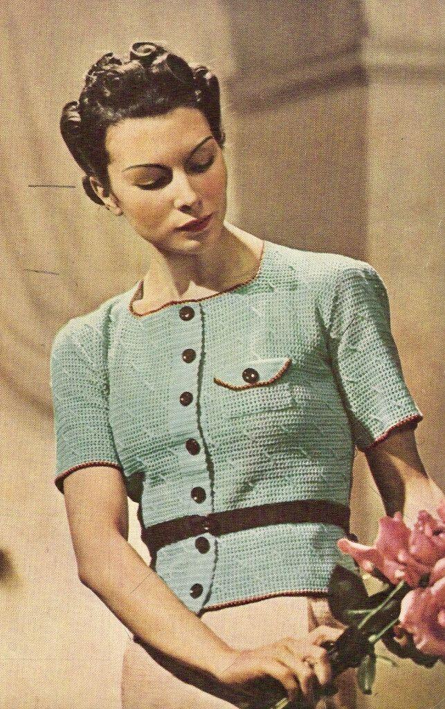031 - Easy Crochet Jumper Vintage Crochet Pattern 1938 by knittedcouture on Etsy https://www.etsy.com/listing/166191136/031-easy-crochet-jumper-vintage-crochet