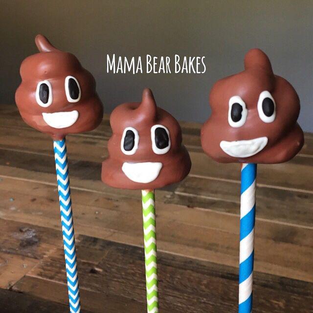 Emoji Poop Cake Pops by Mama Bear Bakes!