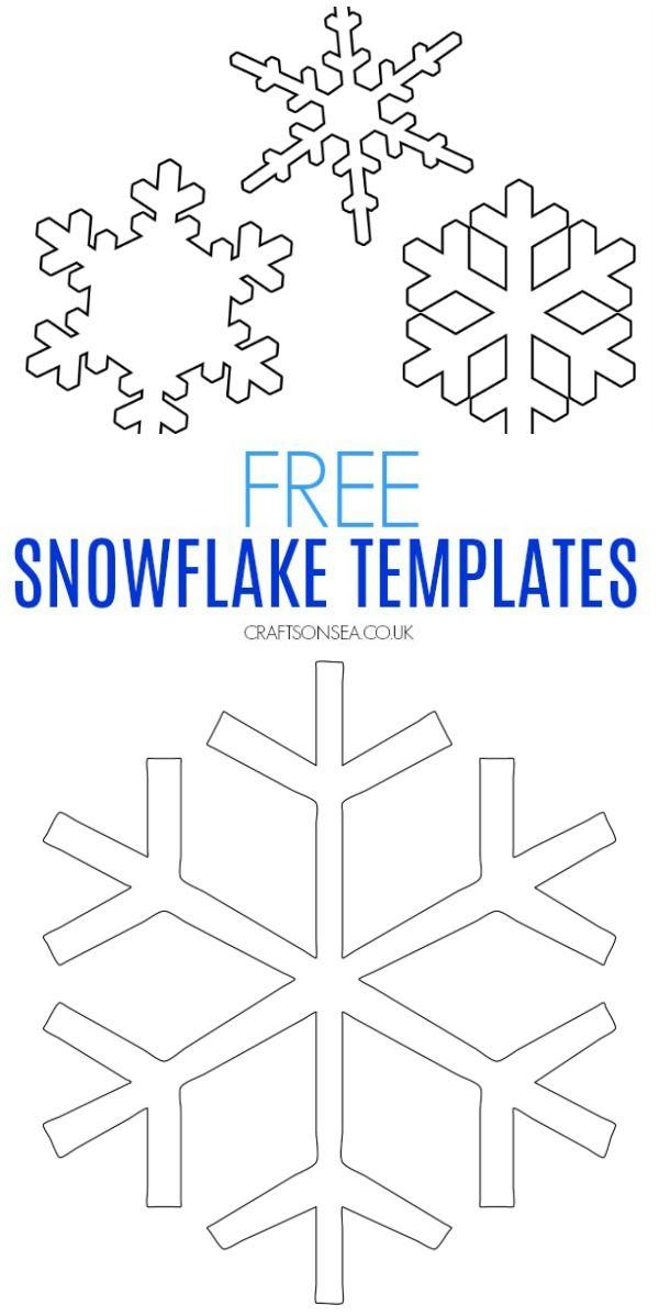 Free Snowflake Template Snowflake Template Simple Snowflake