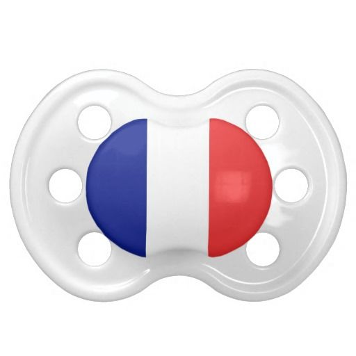 France flag baby pacifier