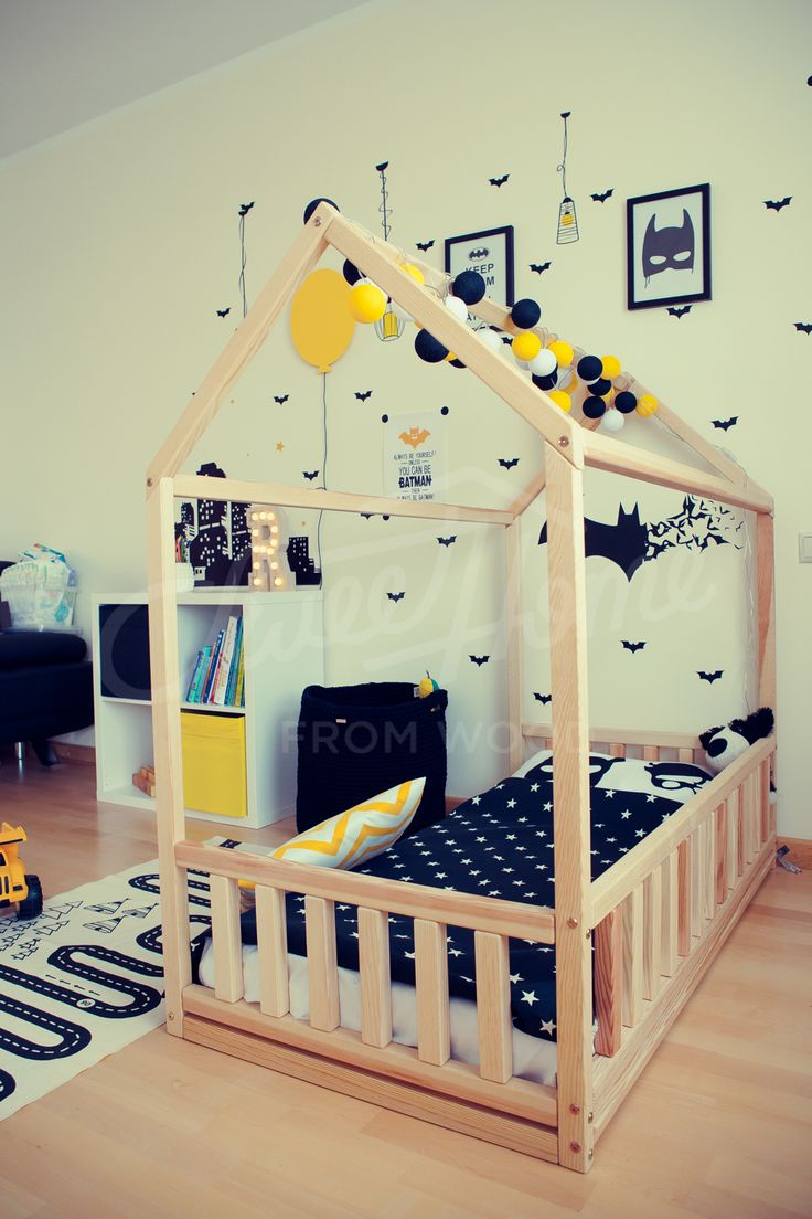 Toddler Boy Room Design: Kids Teepee Wood House Bed, Toddler Bed House, Montessori