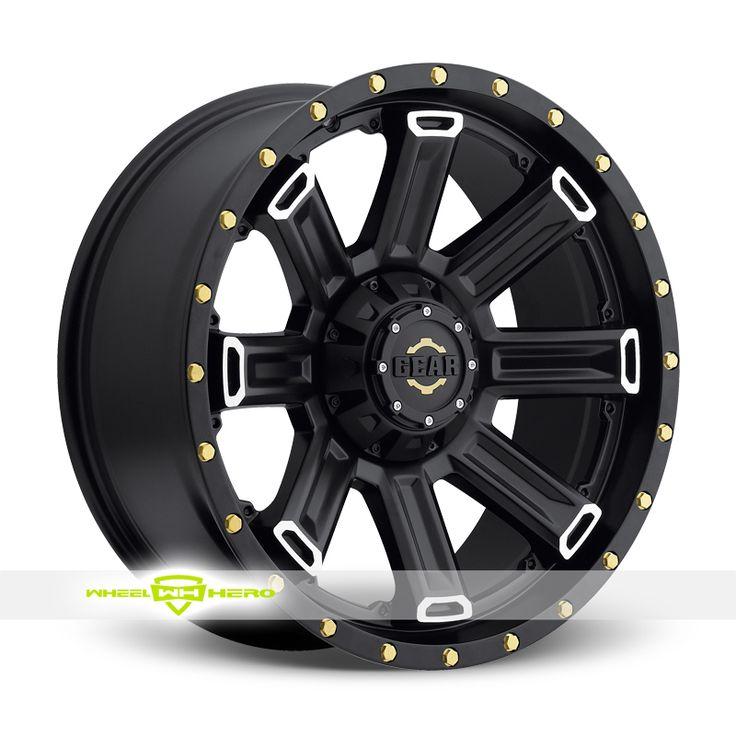Gear Alloy 738 Switch Back Machined Black Wheels For Sale- For more info: http://www.wheelhero.com/customwheels/Gear-Alloy/738-Switch-Back-Machined-Black