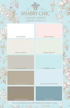 10 Gorgeous Shabby Chic Colors for Inspiration #shabbychicdecordiy #DIYHomeDecorShabbyChic
