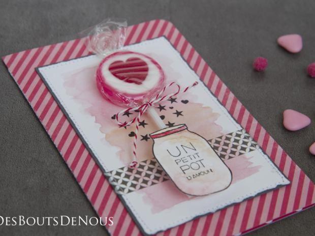 "Carte ""Petit pot d'amour"""