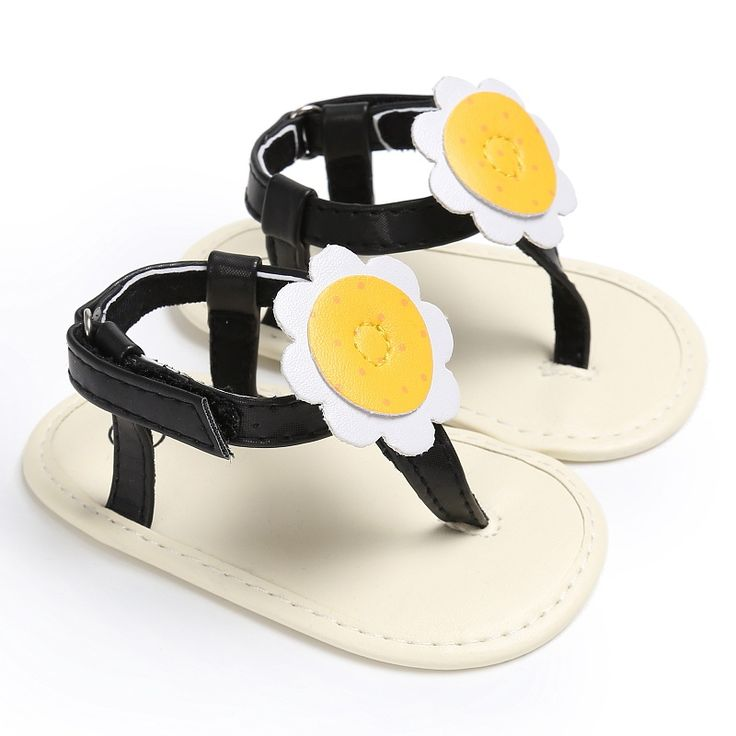 Well-designed Baby Leather Rubber Flat Shoes Sandals With Big Flowers Baby Shoes Cute Sandals #Affiliate