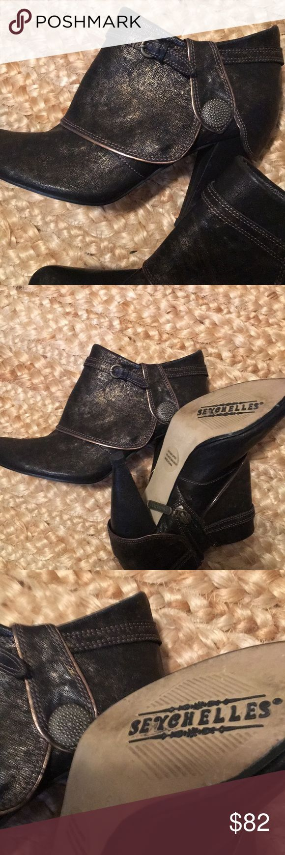 Seychelles boots Wonderful ankle boots that can dress up any outfit. Only worn a couple of times so have lots of life! Very nice shoe lune if not familiar be sure and look up! Seychelles Shoes Ankle Boots & Booties