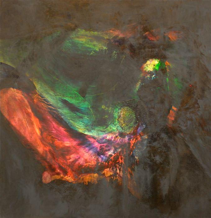 Laurel Holloman Soul Pocket Illuminated - 54x54 - Oil On Canvas