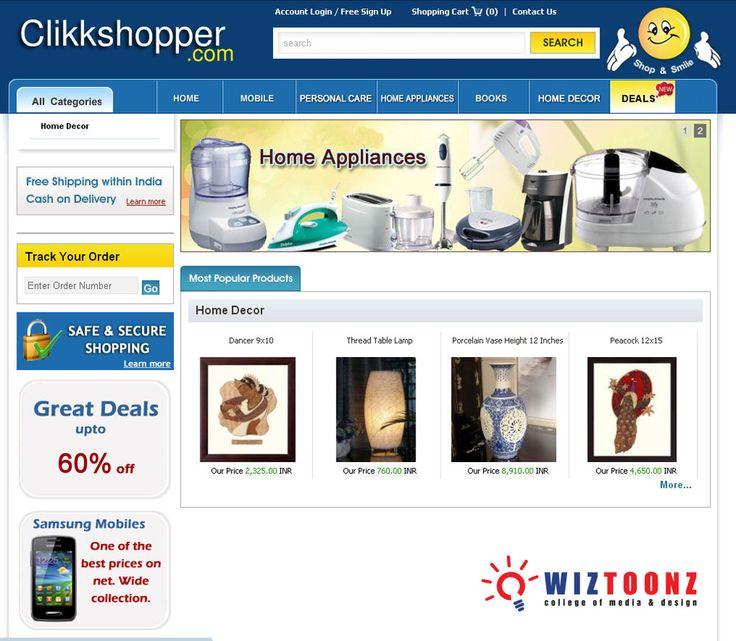 #WebDesigning – Student Works #MultimediaCourses #VFx www.wiztoonz.com