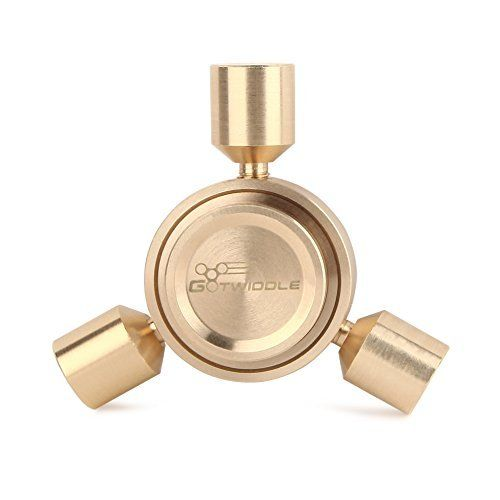 GoTwiddle Spinner Fidget Toy Metal Triangle Hand Spinner   Heaviest Spinner   Copper Frame   High Speed Ceramic Bearing   for Calm and Focus   ADD ADHD Autism   Kids Adult   Gold (Kirby). #GoTwiddle #Spinner #Fidget #Metal #Triangle #Hand #Heaviest #Copper #Frame #High #Speed #Ceramic #Bearing #Calm #Focus #ADHD #Autism #Kids #Adult #Gold #(Kirby)