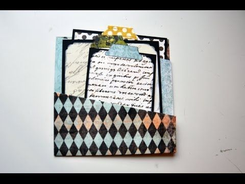 Mini Album Pocket Flip Open Page Tutorial Part 4 - YouTube