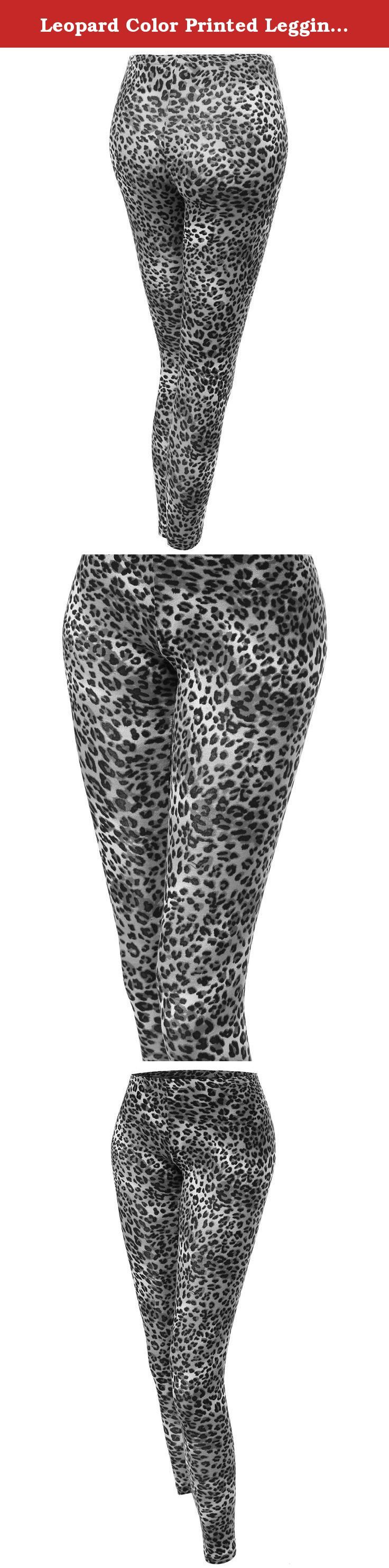 Leopard Color Printed Leggings Gray Size L. Awesome21 is a company which carries professionally in womenswear. We specialize in basic to trendy items which will interest all the ladies and women looking for casual or stylish and unique clothes with quality fabric. If you are a leggings lover, you should own this. There are lots of must have patterns and prints for leggings and this is the very basic and one of the prints you should own. Animal prints are always displayed everywhere and…