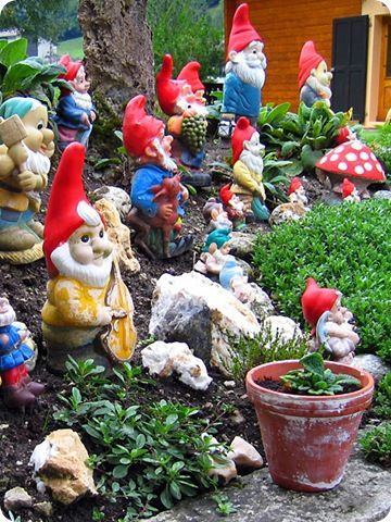 can't wait to get my gnome on in the backyard this summer! i have a secret gnome obsession!