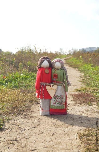 Украшения и аксессуары ручной работы. Ярмарка Мастеров - ручная работа Семейная пара (по мотивам народной куклы). Handmade.
