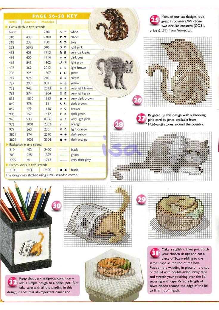 149 besten Animales punto de cruz Bilder auf Pinterest   Kreuzstich ...