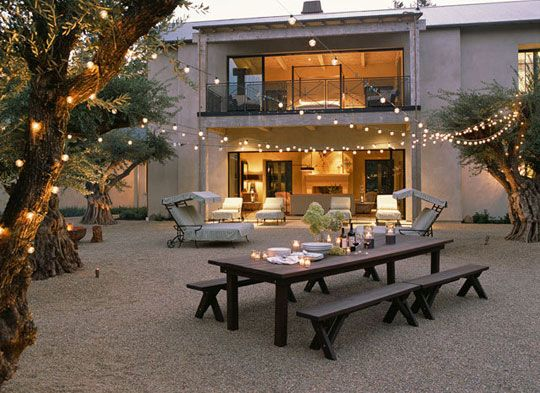 Backyard string lights ideas using light bulb string lights for cool outdoor patio string lights