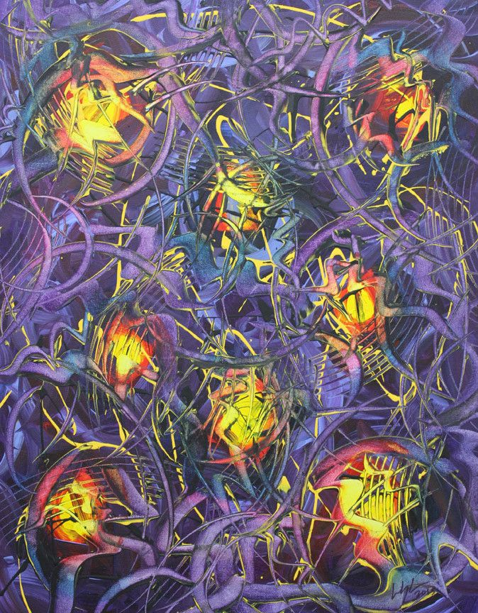 Sometimes all you need on your walls is a fantastic abstract piece! Flashback by Linda Langerak. http://artzila.com/collections/langerak-linda/products/flashback