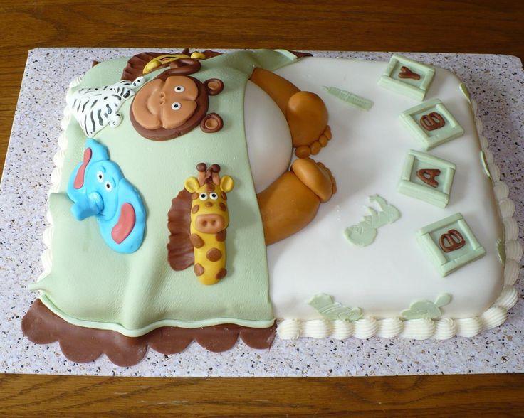 Baby Shower Cakes Calgary Part - 47: Zoo Animals Baby Shower Cake