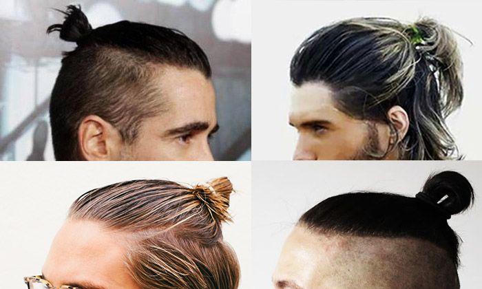 De trend waarbij mannen het lange haar in een strak knotje verwikkelen, hebben meer kans op haaruitval en kale plekjes.