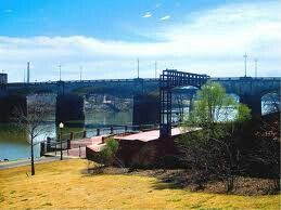 Ampitheater in Phenix City, Alabama  right across the river is Columbus, Georgia... i skipped class for a prayer meeting here, and i skipped prom for a concert here, ha